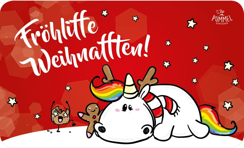 Pummeleinhorn Pummel Friends Frühstücksbrettchen X Mas Fröhliffe Weihnafften Resopal Küche Haushalt