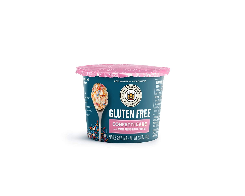 King Arthur, Gluten-Free Single Serve Confetti Cake Mix, Gluten-Free, Non-GMO Project Verified, 2.25 Ounces, (Pack of 12)