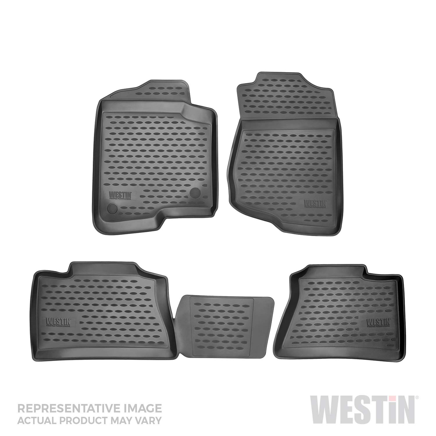 Westin 74-27-41013 Profile Custom Fit Floor Liners Front & 2nd Row fits Mercedes-Benz GLA-Class 2014-2017 All Weather Waterproof Heavy Duty Floor Mat by Westin
