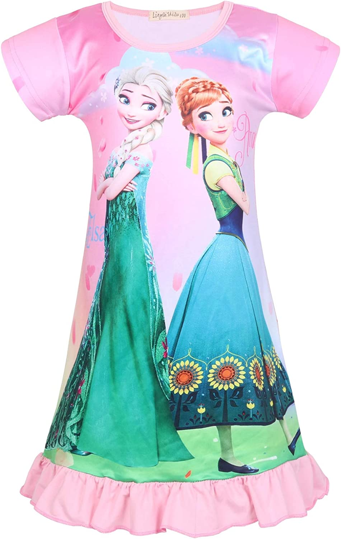 LQSZ Nachthemd M/ädchen Princess Nachtw/äsche Nachthemden Nachtkleider Kleider f/ür Kinder