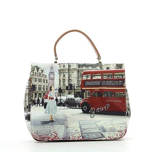 0fe4e052f3 Borsa Y Not tracolla London bus - J333: Amazon.it: Scarpe e borse