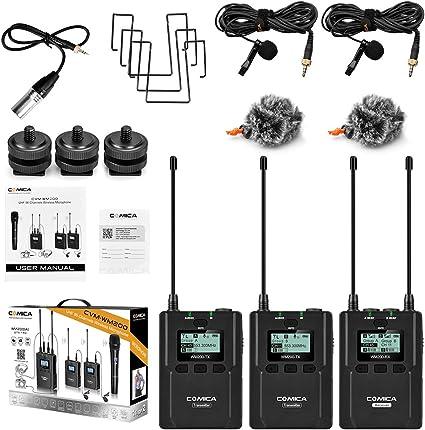 Comica CVM-WM200 (A) 96-Channel Metal UHF Professional Wireless ...