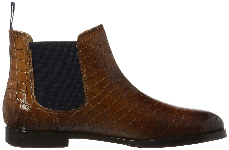 Susan 10/A, Chelsea Boots Femme, Marron (Crock Wood, Ela. Navy, Hrs Crock Wood, Ela. Navy, Hrs), 39 EUMelvin & Hamilton