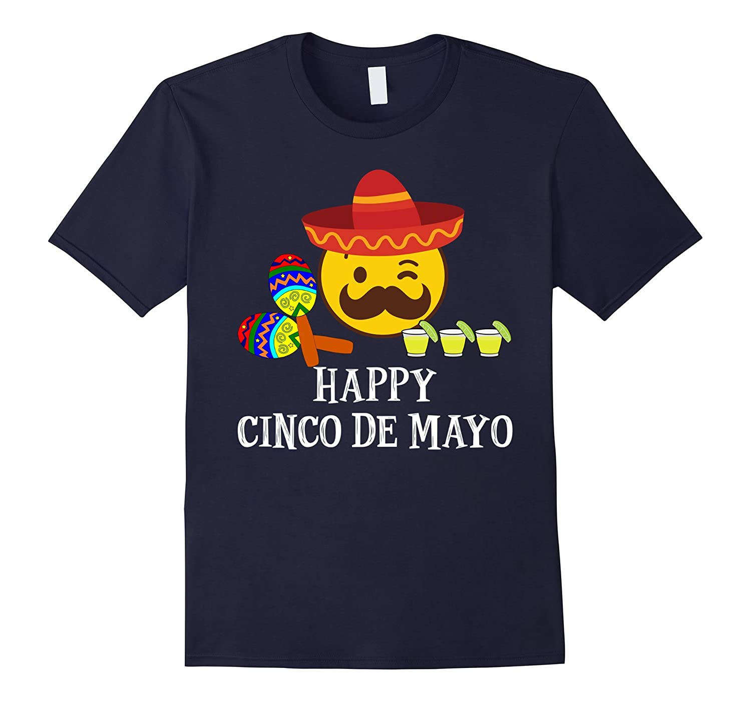 Amazon.com: Happy Cinco De Mayo T-Shirts -Fiesta Emoji Tequila Shots Tee: Clothing