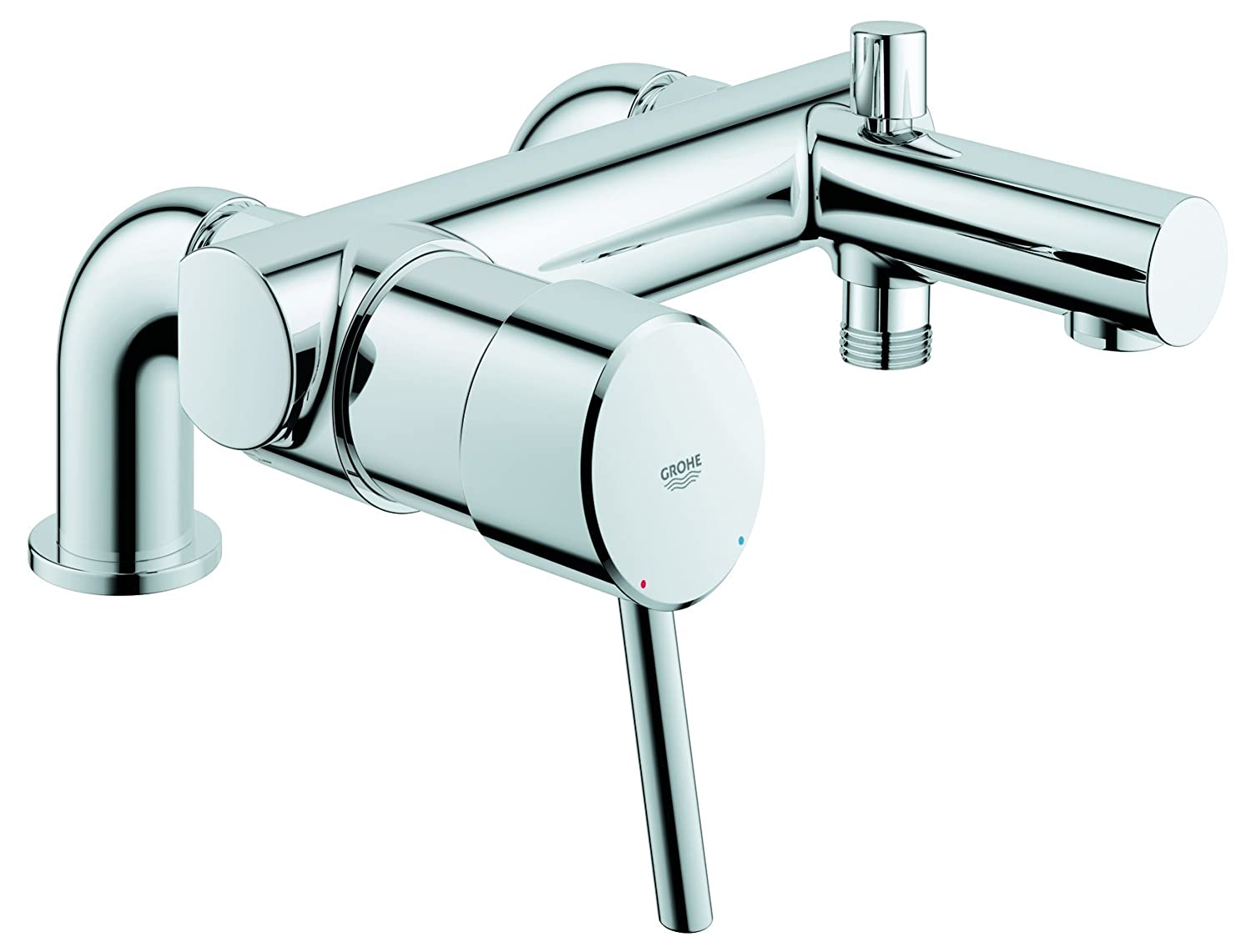 GROHE 32702001 Concetto Single Lever Bath U0026 Shower Mixer: Amazon.co.uk: DIY  U0026 Tools