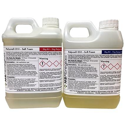 Polycraft – 010 ampliando espuma de poliuretano – suave – 3 kg Polyfoam Kit