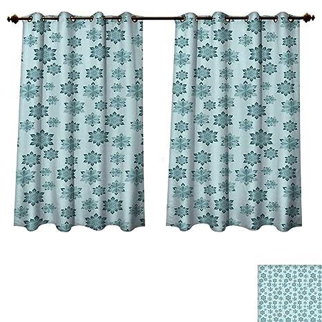 amazon com rupperttextile teal blackout curtains panels for bedroom rh amazon com