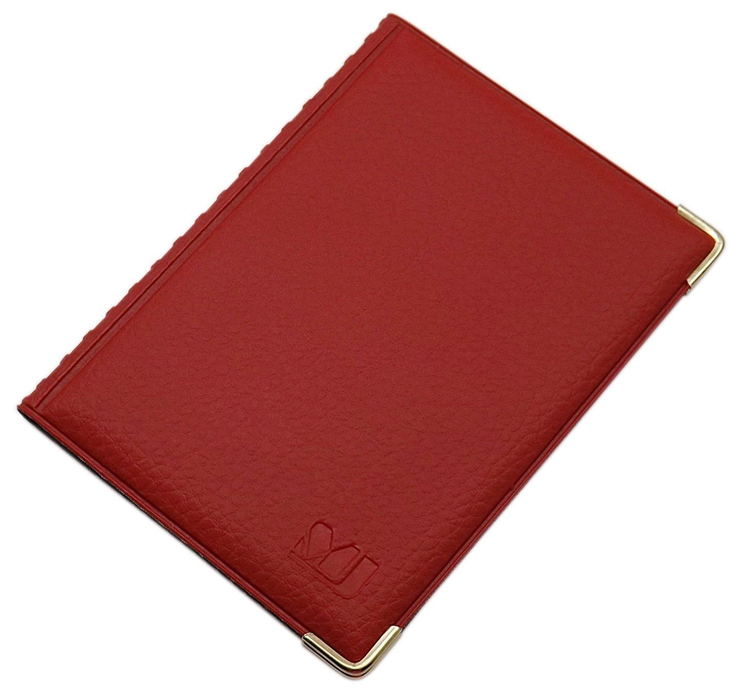 Exclusives Ausweis- und Kreditkartenetui mit Schutzecken aus Metall 4 Fächer MJ-Design-Germany Made in EU in verschiedenen Farben und Designs (Design 1 / Schwarz)