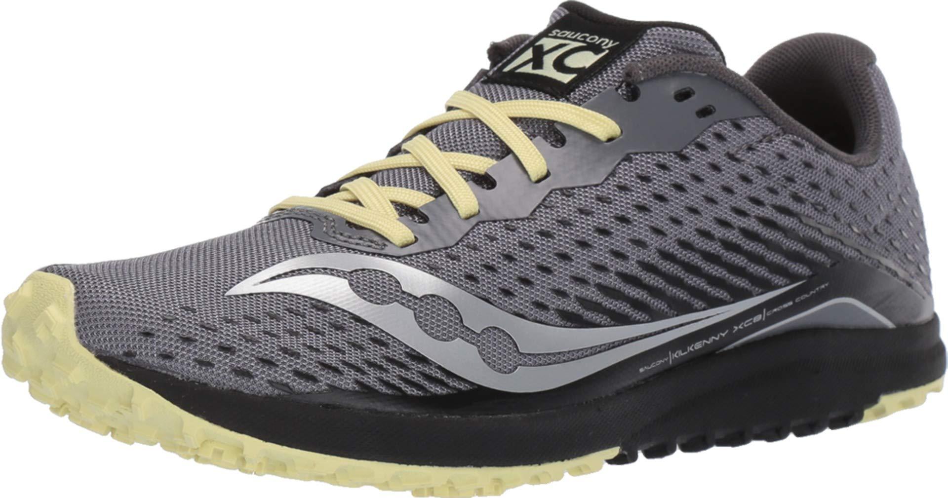 Saucony Women's Kilkenny XC8 Flat Track Shoe, Black/Yellow, 5 Medium US