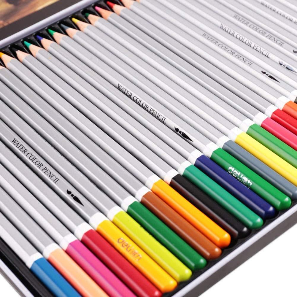 YongFeng Color Pencil 24/36/48/72 Color Water-Soluble Color Lead Wholesale Coloring Painting Pen Iron Box (Size : 72 Colors)
