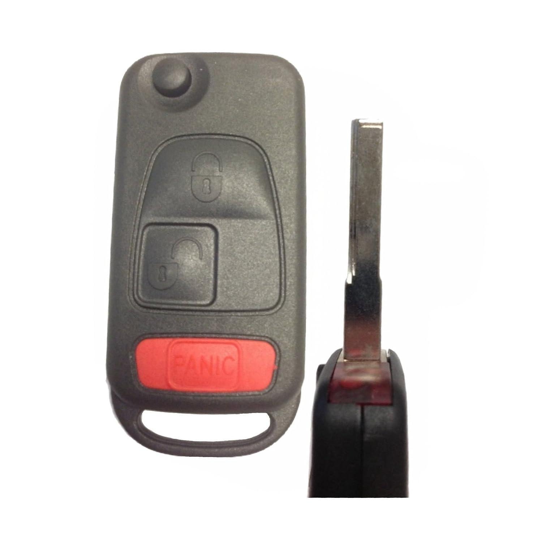 kawihen keyless entry remote car key fob shell replacement for mercedes-benz  c230 c280 c43 amg cl500 cl600 clk320 clk430 e300 e320 e430 e55 amg ml320  ml430