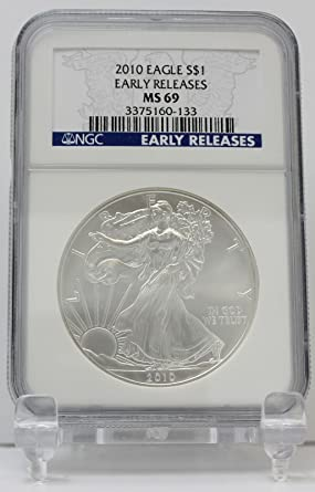 SILVER EAGLE 2004 MS69 NGC   Silver Eagle       Free Shipping