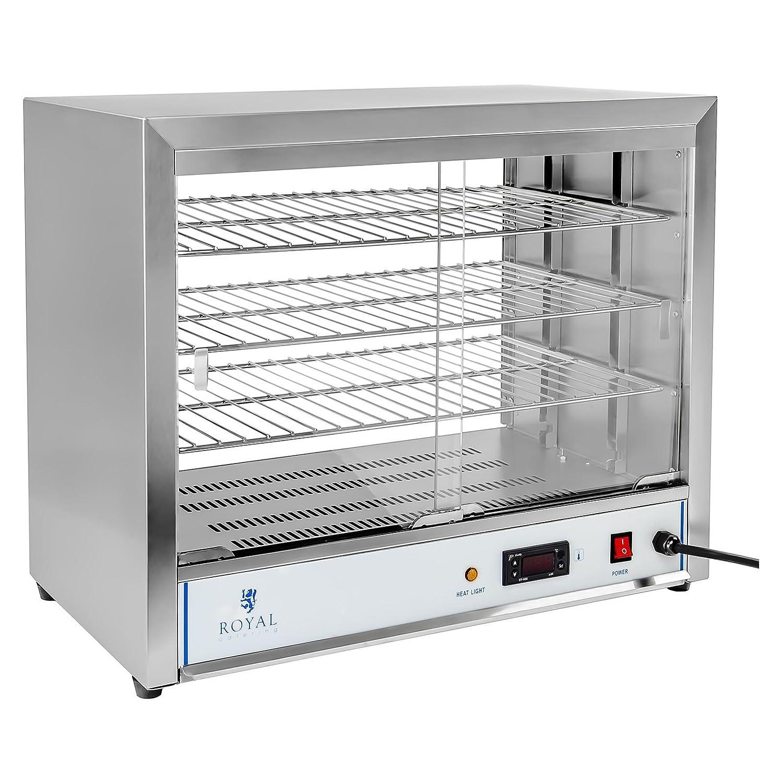 Royal Catering - RCHT-1000 - Vitrina caliente - 1.000 watt - 3 bandejas - Envío Gratuito: Amazon.es: Hogar