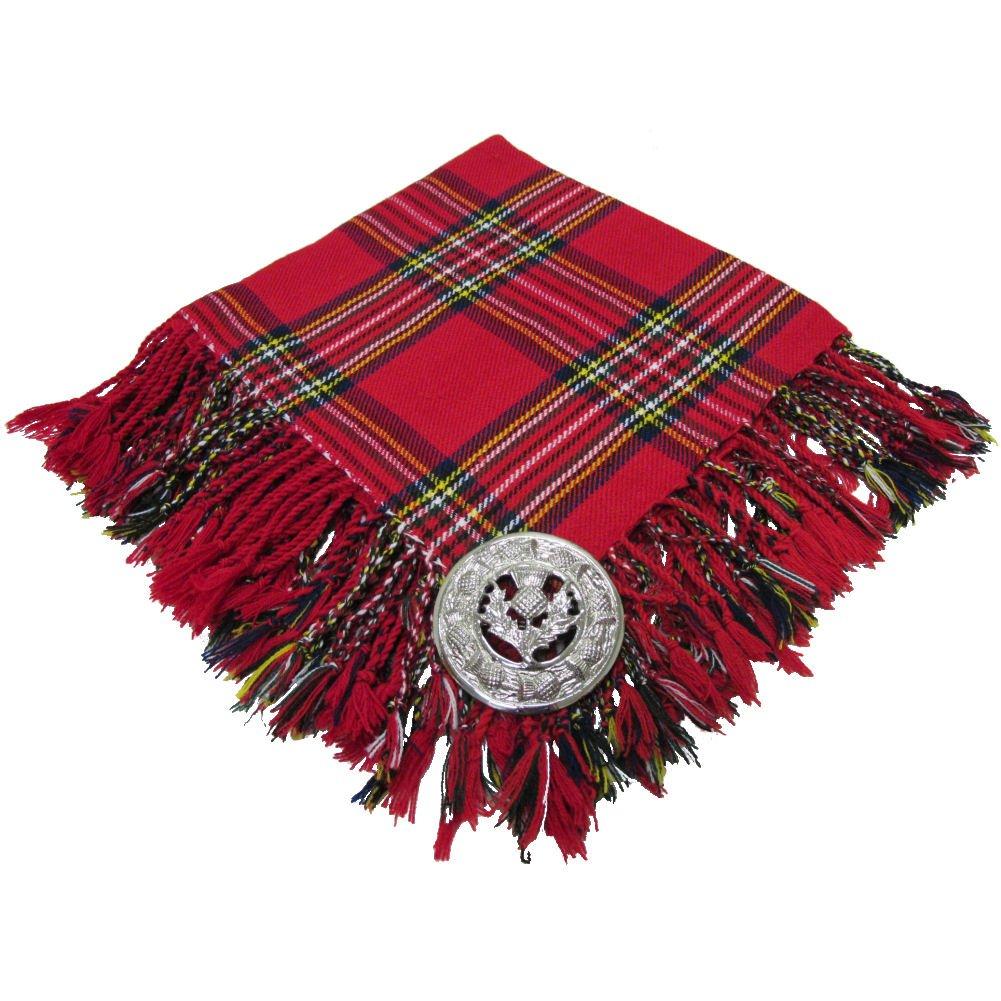 Neue Royal Stewart Tartan schottischen purled Fransen Budget Fly Plaid f/ür Kilt