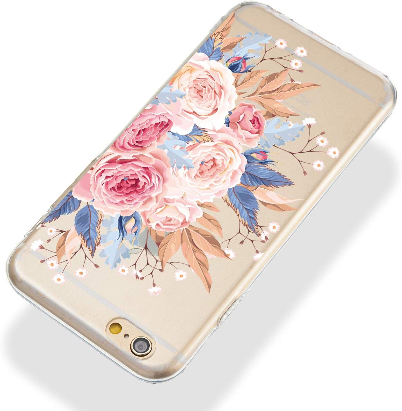 iPhone 6S Handyh/ülle Pink Sto/ßstange Anti-Scratch Silikon Case iPhone 6 iPhone 6S h/ülle Silikon Transparent d/ünn Huphant kompatibel mit iPhone 6 Anti-Gelb