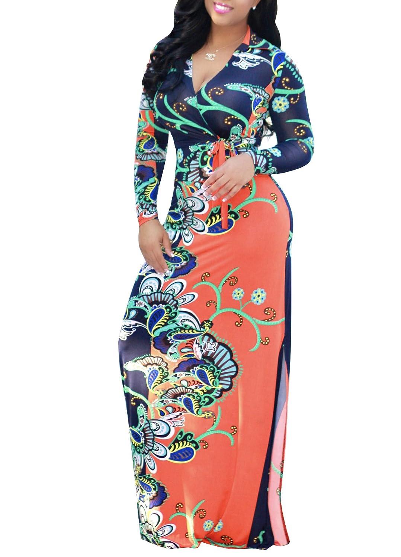 f53c3466d6 Plus Size African Dashiki Maxi Dress