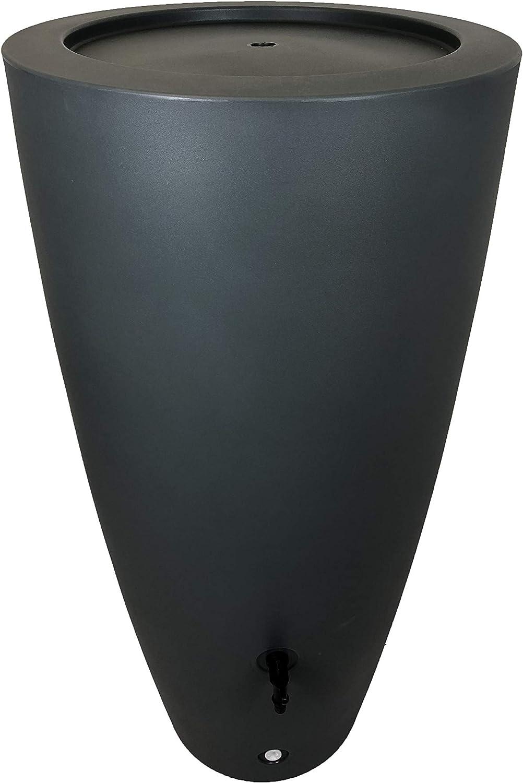 Plast'Up Rotomoulage Pot de Fleurs récupérateur d'eau R&C, Gris, 121 CM