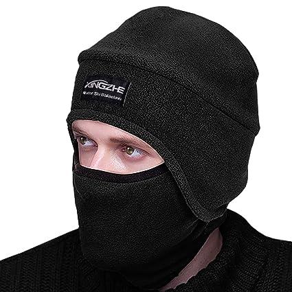 51fdd5a02d8 Amazon.com   Winter Thermal Hats-Balaclava Fleece Hood-Windproof Ski Mask  -KID Women Men-Heavyweight Cold Weather Winter Motorcycle Ski   Snowboard  Gear ...