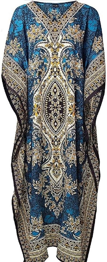 Art Of Creation Ladies Long Kaftans Kimono Maxi Style Dresses Women in Regular to Plus Size Cover up