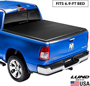 "Lund Genesis Elite Tri-Fold Soft Folding Truck Bed Tonneau Cover | 95850 | Fits 2017 - 2020 Ford Super Duty 6' 9"" Bed"