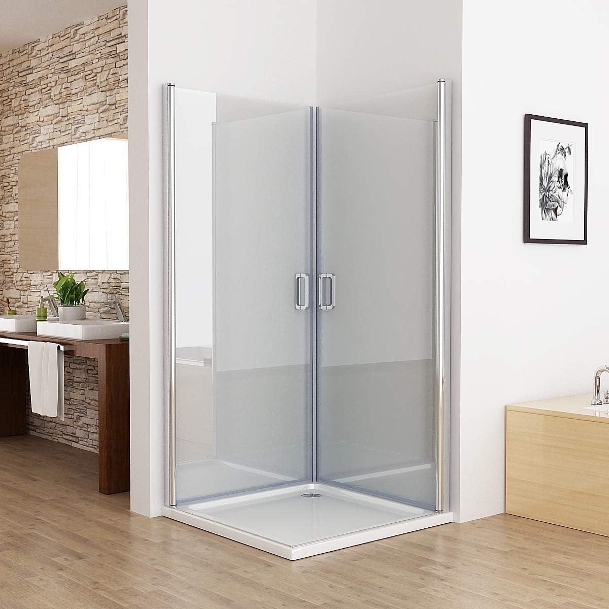 Cabina de ducha de esquina de 180°, puerta oscilante, ducha de 6 mm ESG 750 x 750 mm: Amazon.es: Bricolaje y herramientas