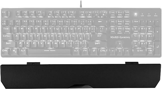 MARSGAMING MK4PALMR, reposamuñecas para teclado mecánico, goma antideslizante