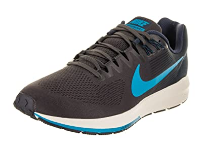 69c68266b30b7 Nike Men's Air Zoom Structure 21 Running Shoe Obsidian/Blue Hero-Thunder  Grey 9.0