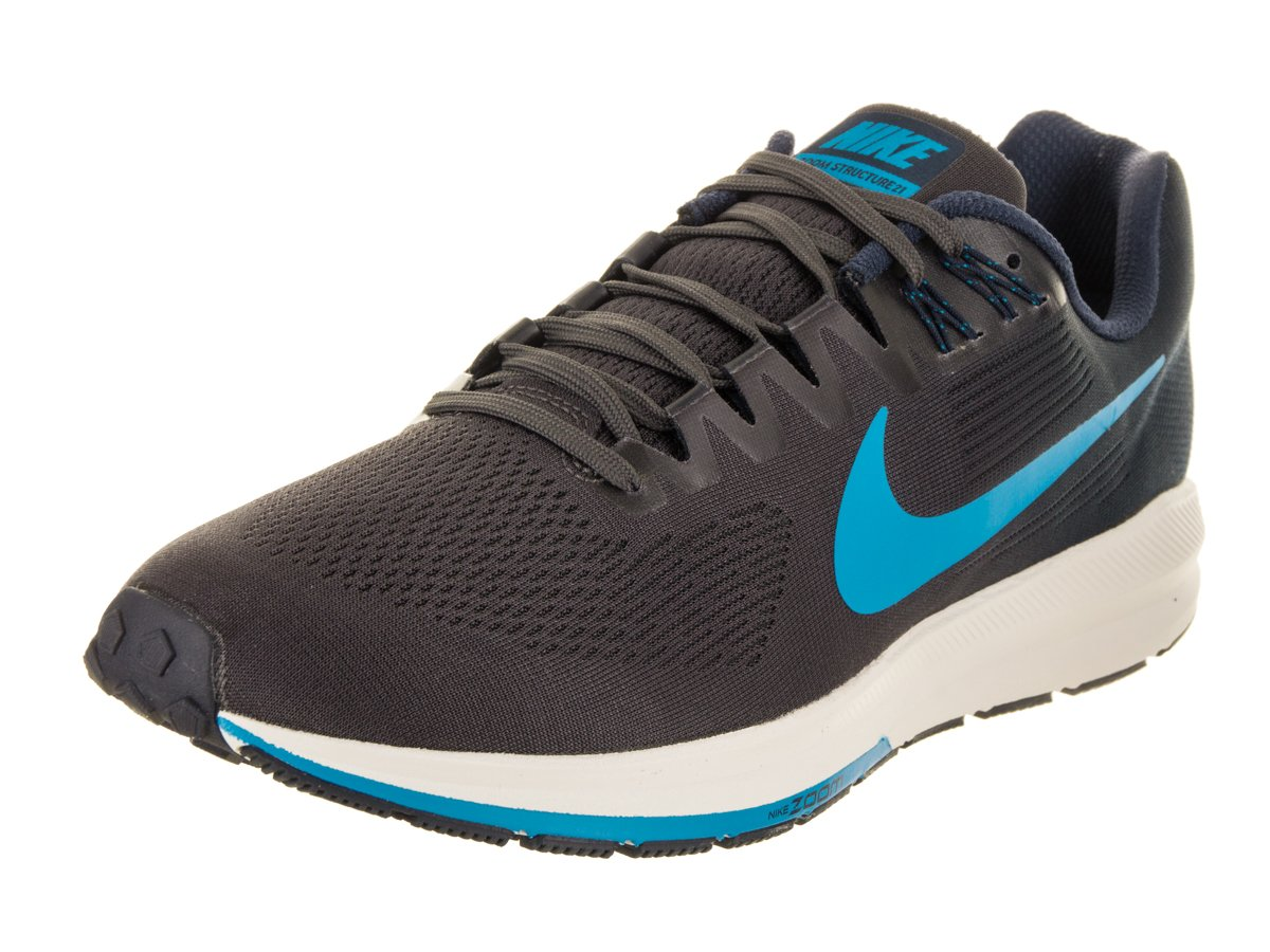 size 40 26005 227a2 Galleon - Nike Men s Air Zoom Structure 21 Running Shoe Obsidian Blue  Hero-Thunder Grey 10.0