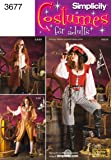 Simplicity Sewing Pattern 3677 Misses Costumes, RR (14-16-18-20)