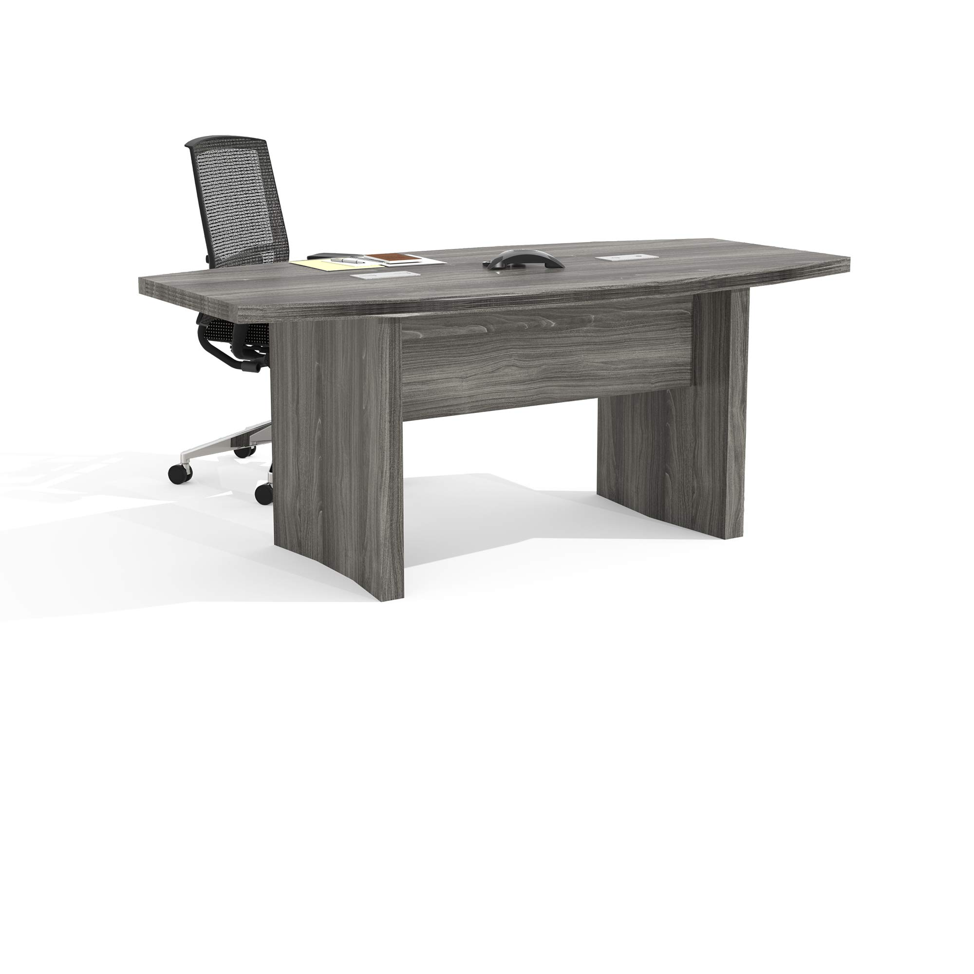 Mayline ACTB6LGS Aberdeen 6' Boat Shape Conference Table, Gray Steel Tf by Safco Products (Image #2)