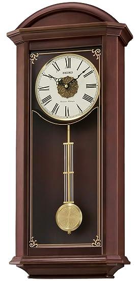 Seiko Cuarzo/Batería Reloj De Pared De Madera con Westminster/Whittington Timbre inalámbrico, Control de Volumen, péndulo. qxh065b: SEIKO: Amazon.es: ...