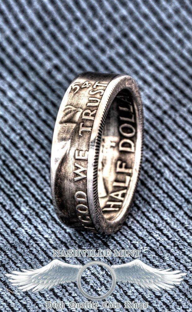 Amazon Com 1948 1963 Silver Half Dollar Coin Ring Handmade Ben