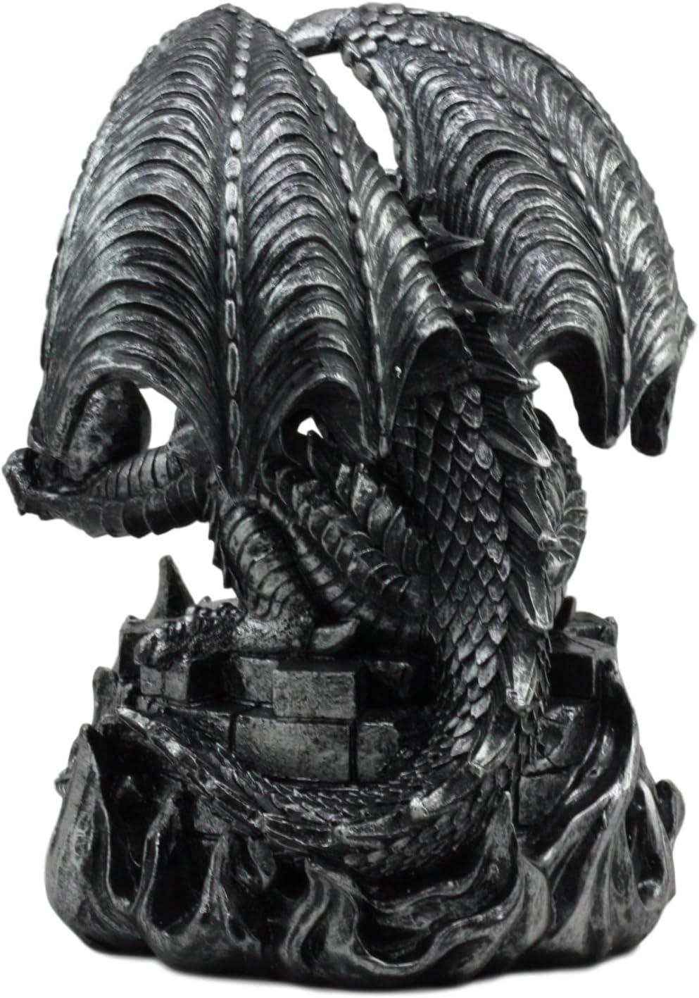 Ebros Aztec Quetzalcoatl - Figura de Dragón sin Ejercicios con Calavera Humana DE 25,4 cm de Altura, Diseño de Dragón de Fantasía: Amazon.es: Hogar