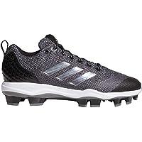 Adidas Power Alley 5 - Zapatillas de béisbol de Poliuretano termoplástico (TPU), Color Negro, Plateado y Blanco (AQ0248)