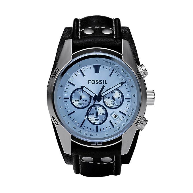 Fossil Coachman - Reloj de pulsera, Plata (schwarz/silber), Onesize