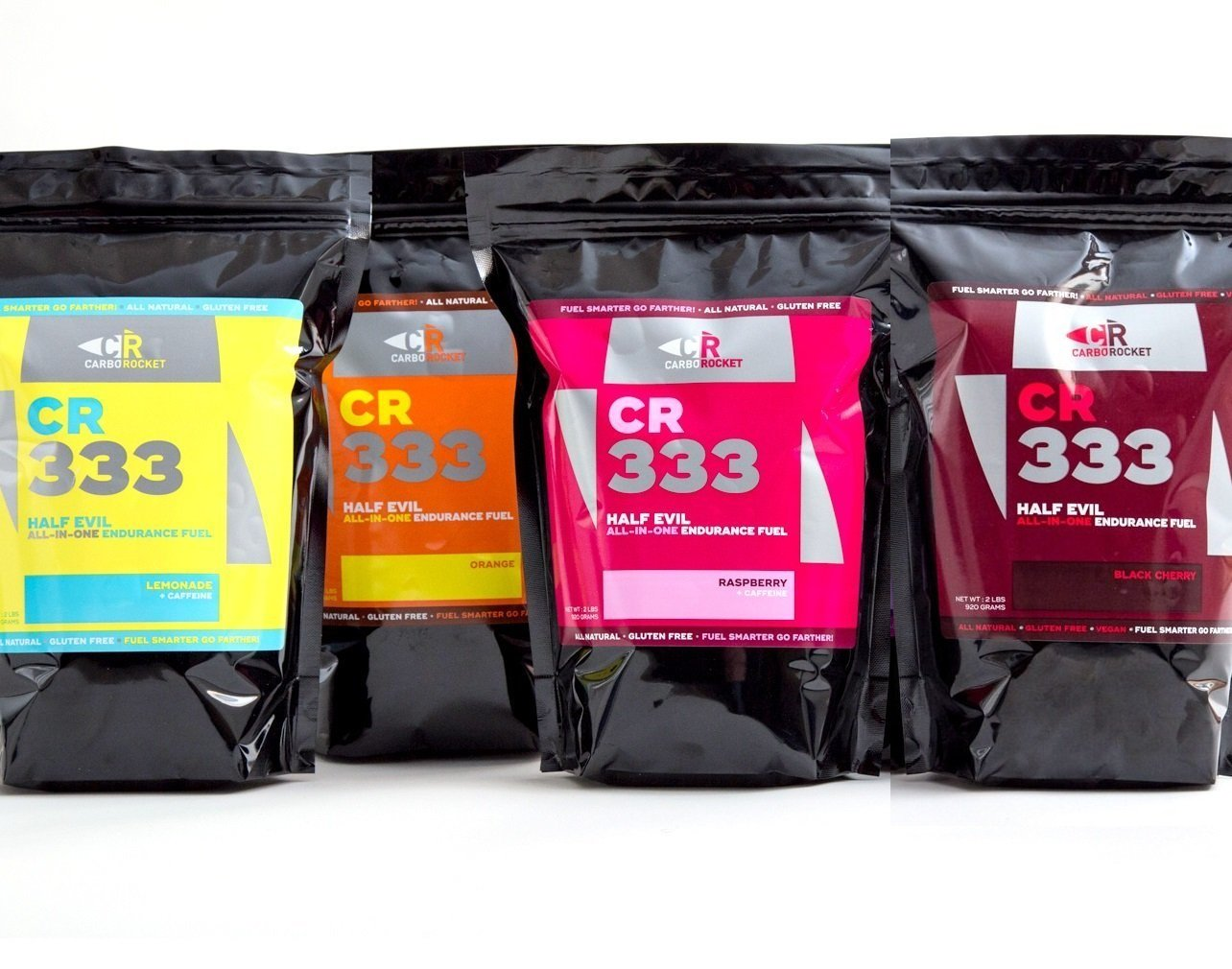 CarboRocket 333 All-In-One Endurance Drink Bundle Pack of Four Flavors
