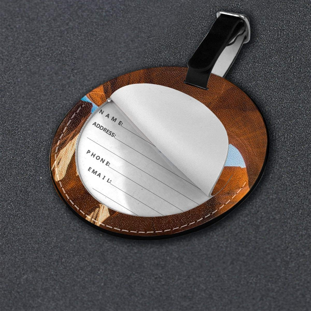 Round Luggage Tags River Travel Accessories Suitcase Name Tags