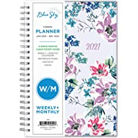 """Blue Sky 2021 Weekly & Monthly Planner, Flexible Cover, Twin-Wire Binding, 5"""" x 8"""", Laila (125892)"""