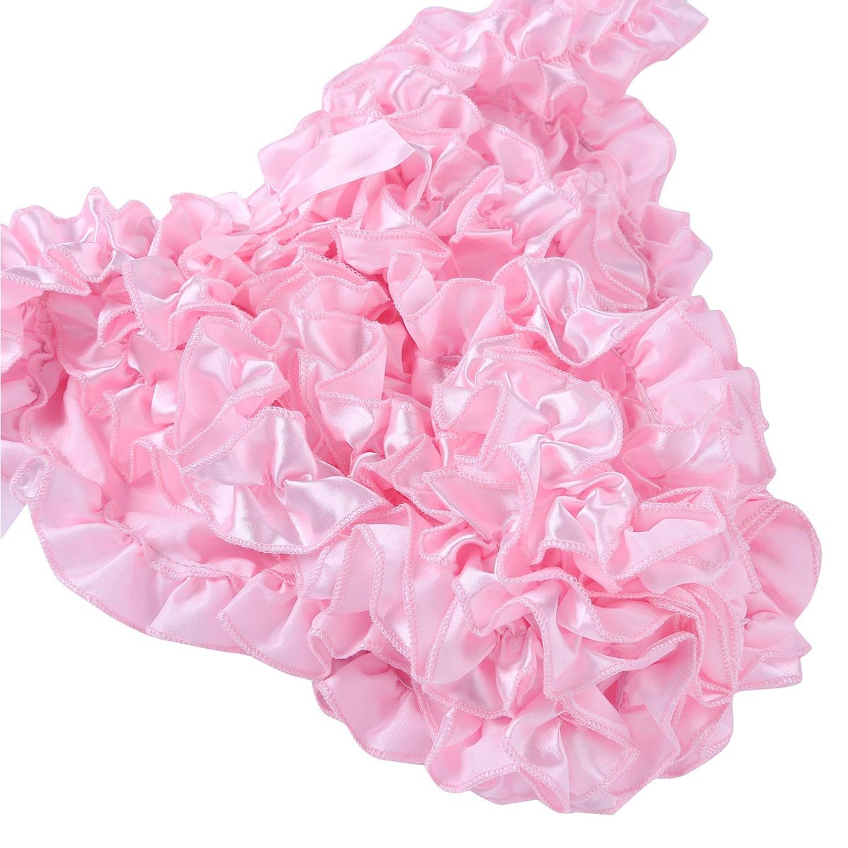 CHICTRY Mens Satin Frilly Sissy Crossdress Ruffled Bloomers Burlesque Panties