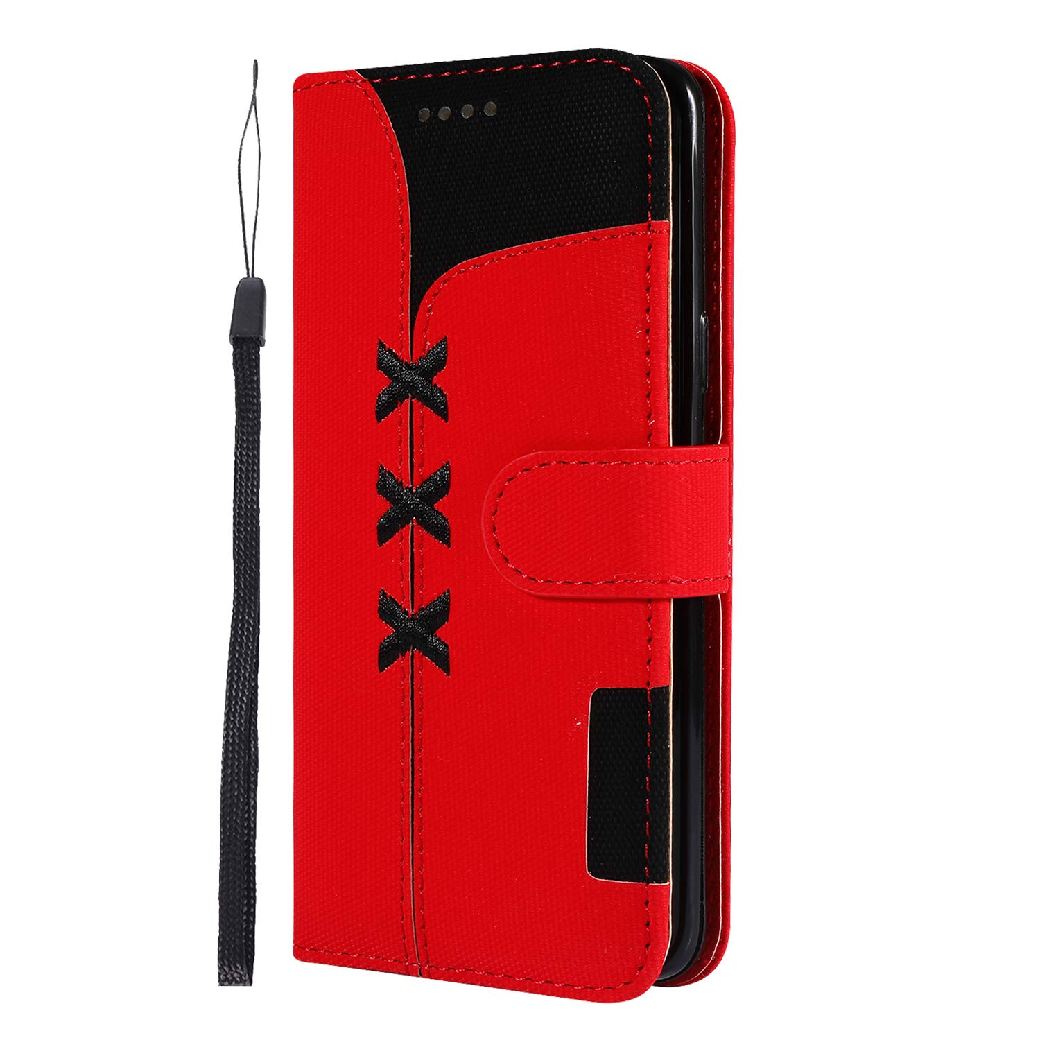 LOGHU040226 Hot Pink G960 Case Samsung Galaxy S9 Lomogo Leather Wallet Case with Kickstand Card Holder Shockproof Flip Case Cover for Samsung Galaxy S9