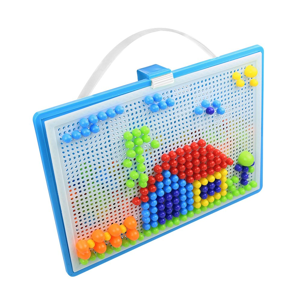 Greenery-GRE 296 Fuse Bead Set for Kids Child Over 3 Years, Creative DIY Mosaic Pegboard Mushroom Nails Kit Fun Arts And Crafts Science Jigsaw Puzzle Toy Intelligent 3D Games Educational Toy by Greenery-GRE (Image #5)