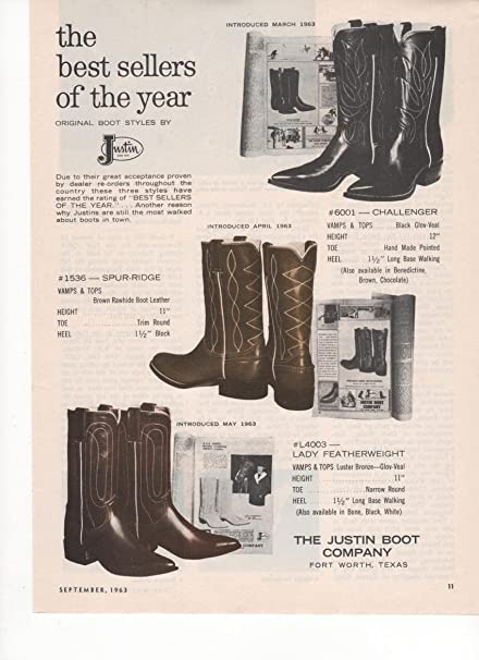 a29b8d6990a Amazon.com: The Justin Boot Company Fort Worth TX Best Sellers 1963 ...