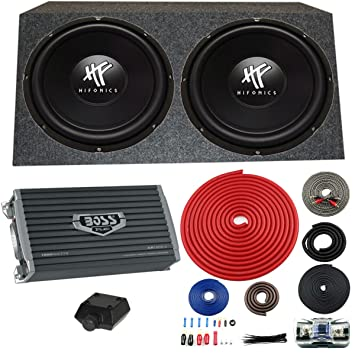 amazon com 2 hifonics hfx12d4 12 1600w car dvc subwoofers rh amazon com
