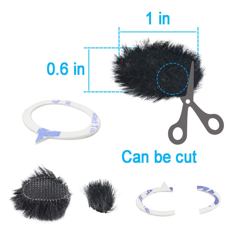 8 PCS Piel Viento Muff Cubierta de Viento para DSLR Incorporado micr/ófono Filtro de Viento al Aire Libre por YOUSHARES C/ámara micr/ófono Parabrisas