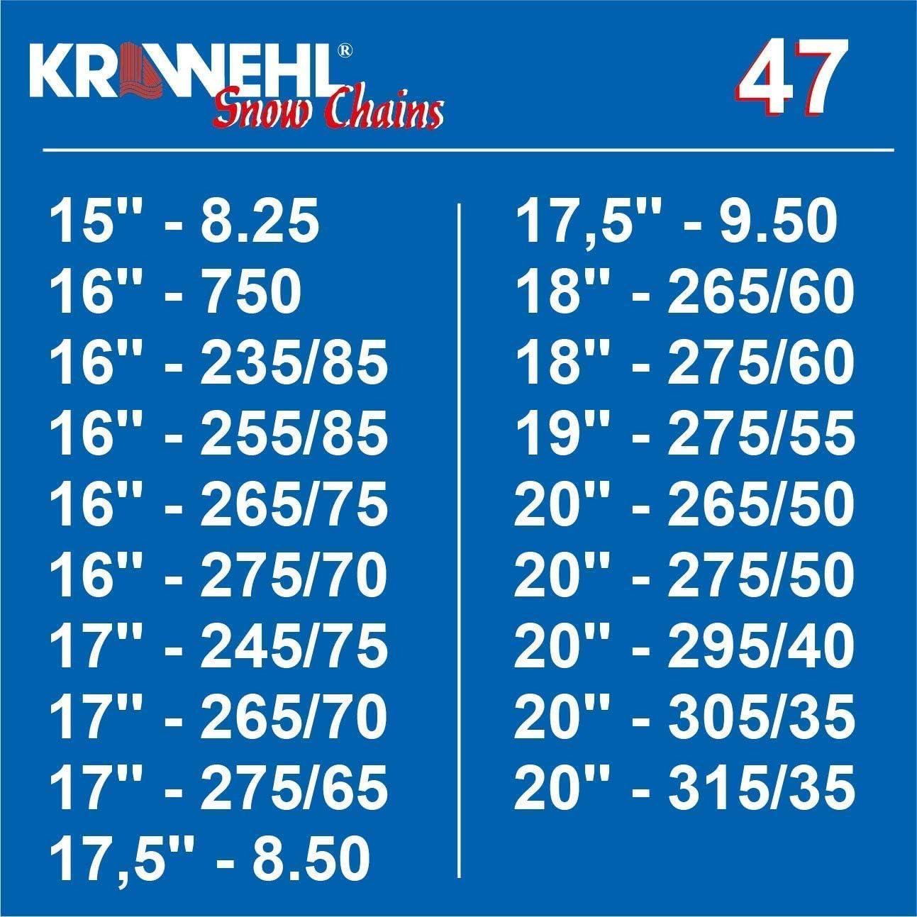 KRAWEHLL 4x4 sp/écial Groupe 45-3402.0011455 Cha/înes de Neige Type Rombo /Ø 16 mm