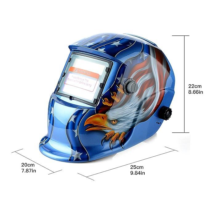 Casco de soldar solar con oscurecimiento automático máscara de soldadura nueva: Amazon.es: Bricolaje y herramientas