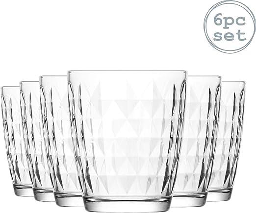 LAV Artemis agua del vaso de 340 ml Vidrios - Pack de 6 Vasos de una tabla Soft Drinks / Zumo: Amazon.es: Hogar