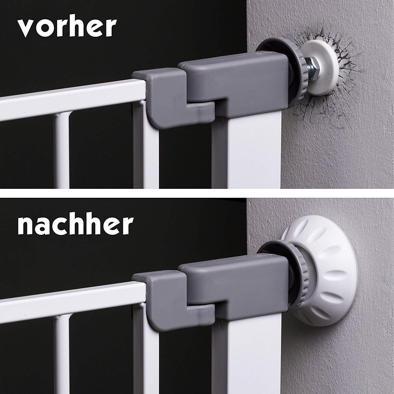 Deutscher Hersteller F/ür Baby Kein Bohren notwendig Kind 4er//8er Set Hund Hoffenbach/® Wandschutz Pads f/ür Treppengitter und T/ürgitter F/ärbt nicht ab