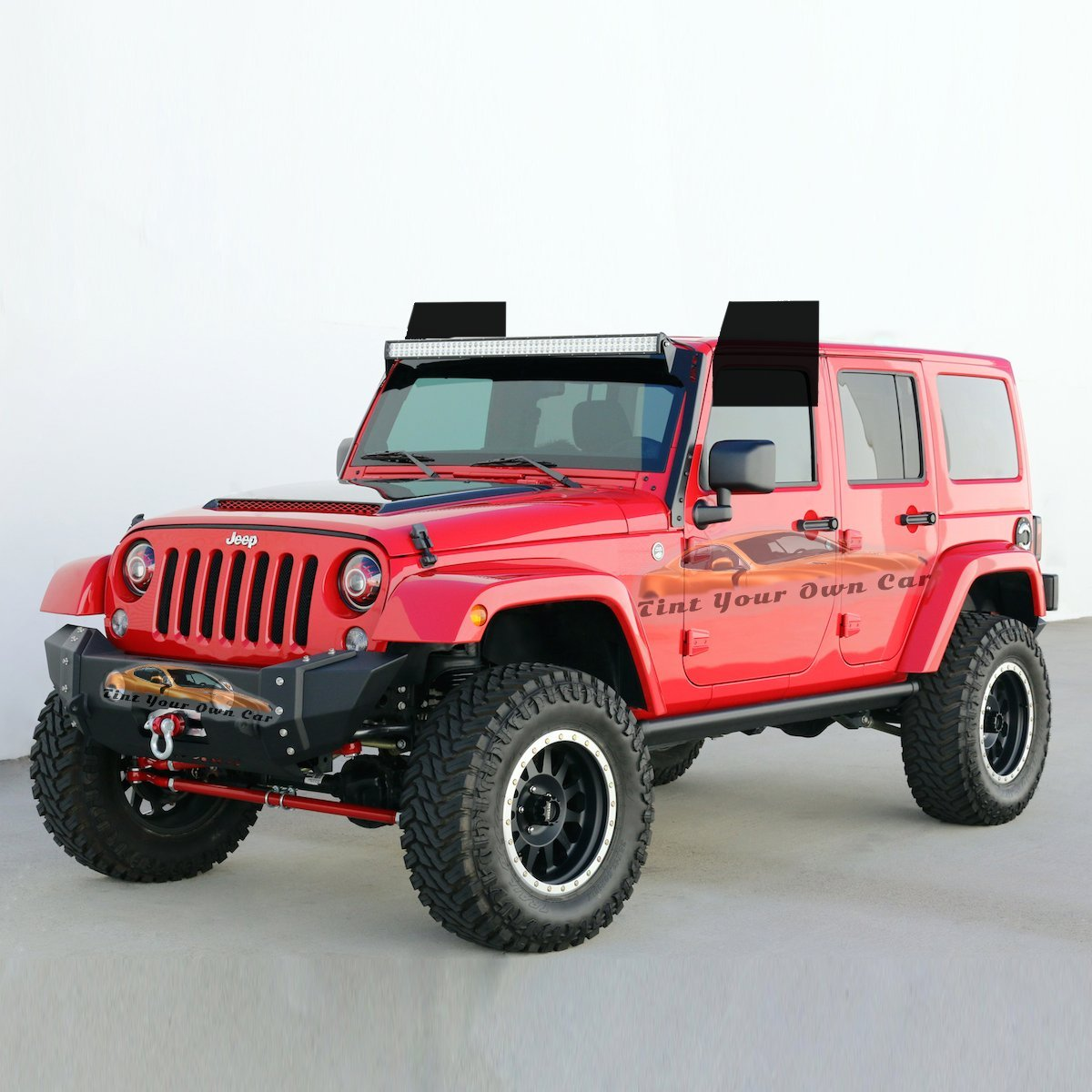 Computer Cut For 2011-2016 Jeep Wrangler Unlimited Front Windows, 20/% Tint Tint Kits