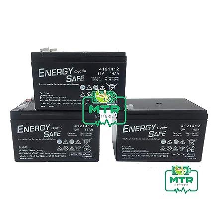 ENERGY SAFE batería Plomo 12 V 14 Ah Ciclica para Bicicletas ...